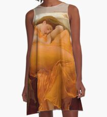 Flaming June - Frederic Lord Leighton  A-Line Dress