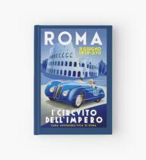 """ROMA VINTAGE GRAND PRIX"" Auto Racing Print Hardcover Journal"