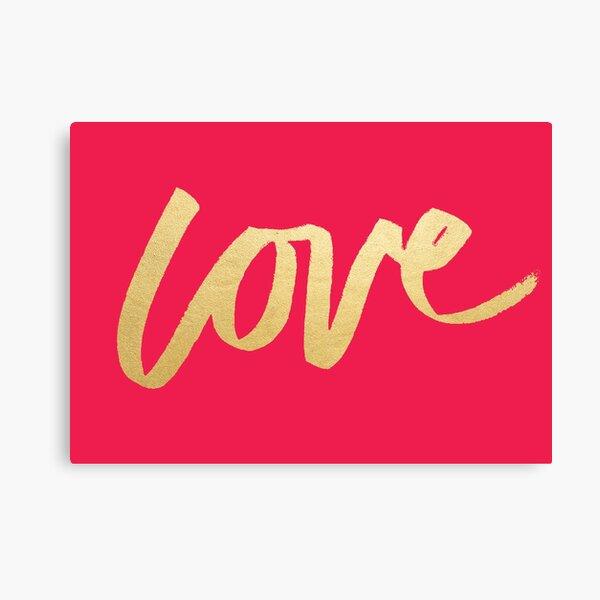 Love Gold Pink  Canvas Print