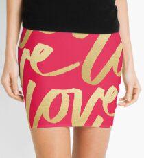 Love Gold Pink  Mini Skirt