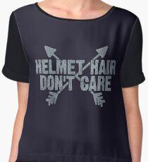 Funny Horse Hair Equestrian Woman Gift Chiffon Top