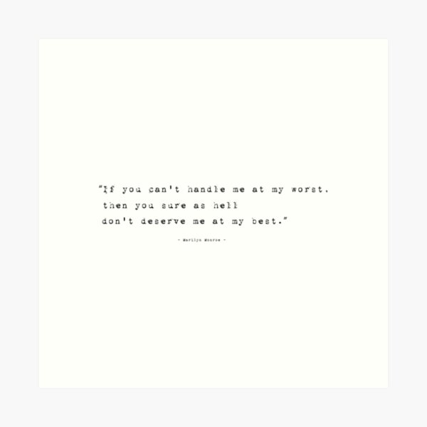 Marilyn Monroe selfish quote ❤ Limited Edition Print in 5 sizes LOVE reading #62