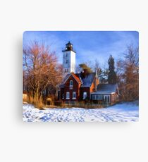 Winter at Presque Isle Lighthouse - Erie, PA Metal Print