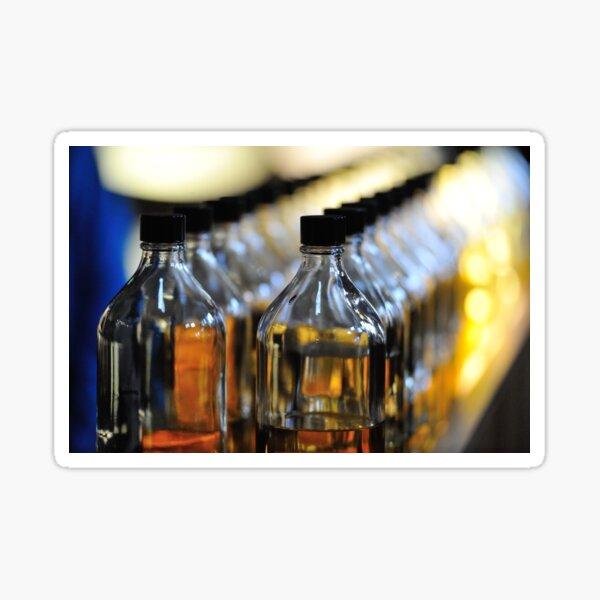 A line of Whisky blenders bottles Sticker