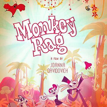 Monkey Rag Poster by jothezette