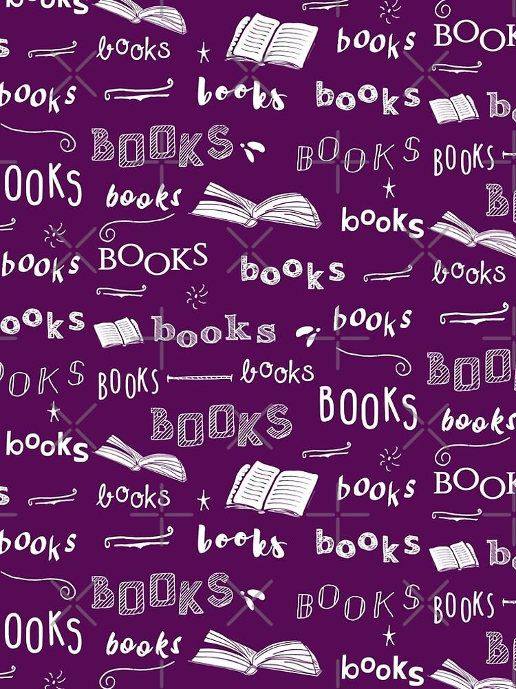 books pattern #white by FandomizedRose