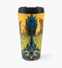 Troodon in the Rushes Travel Mug