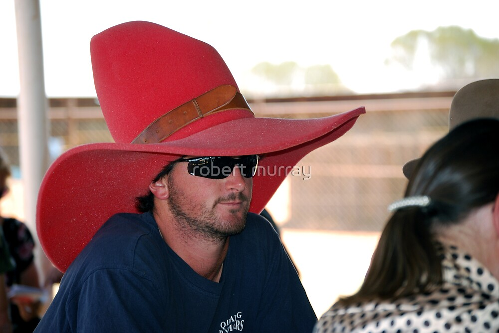 Big Red Bubble Hat by robert murray