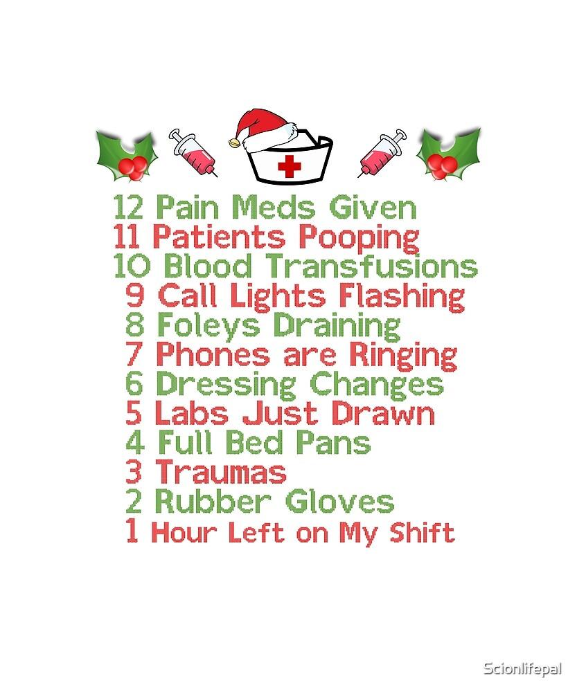 12 Days of Nursing Nursemas Christmas Gifts for Nurse\