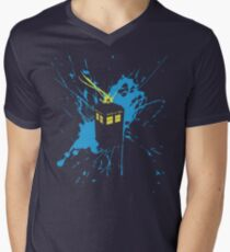 TARDIS Splash Men's V-Neck T-Shirt