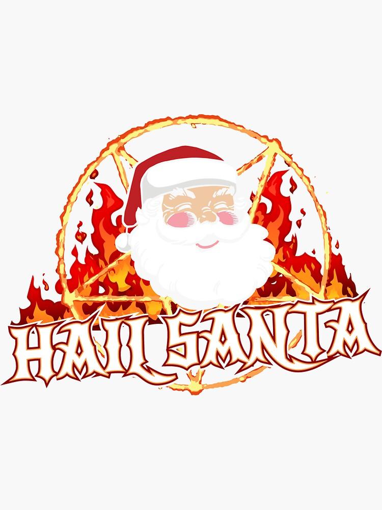Heil dir Santa Metal Weihnachten von thingsandthings