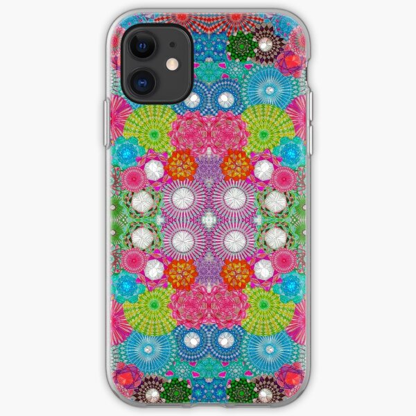 Filtered Spirograph Artwork iPhone Soft Case