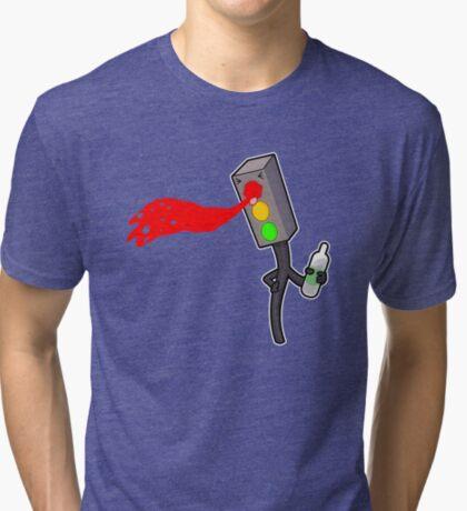 Traffic Light Blues  Tri-blend T-Shirt