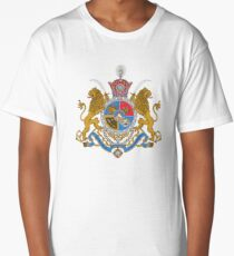 Imperial Coat of Arms of Iran under the Pahlavi Dynasty Long T-Shirt