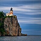 Light on the Cliff - Lake Superior, Wisconsin by Kathy Weaver