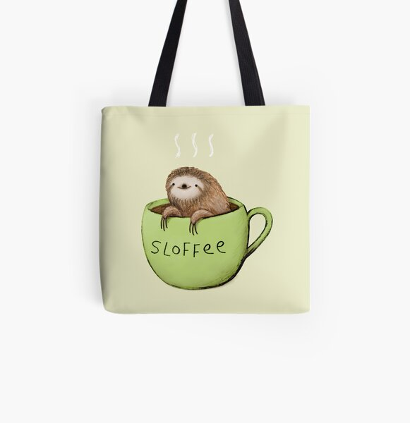 Sloffee All Over Print Tote Bag