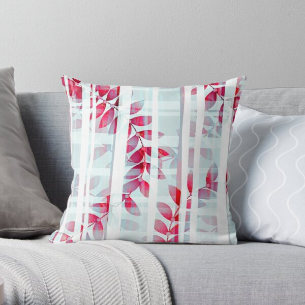 Abstract Foliage Pattern  Throw Pillow