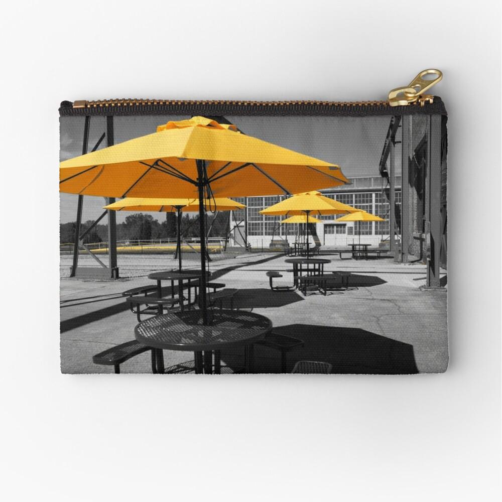 Yellow Umbrellas Zipper Pouch