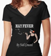 Is this a game? Hay Fever inspired design Women's Fitted V-Neck T-Shirt