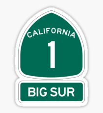 PCH - CA Highway 1 - Big Sur Sticker