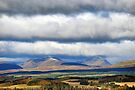 Over the fields to the Highland mountains beyond by Richard Flint