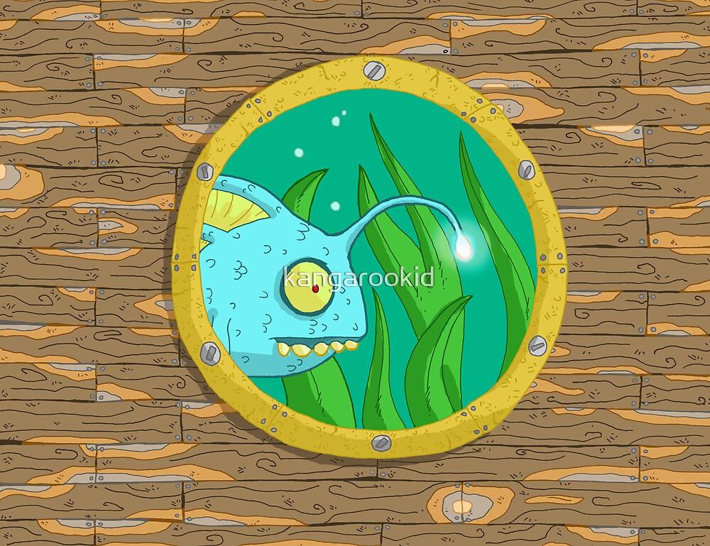 fish in porthole... by kangarookid