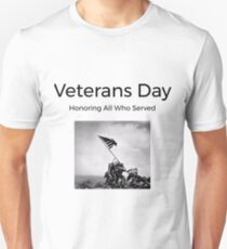 honoring all who served - veterans day Unisex T-Shirt