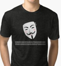 People should not be afraid of their governments - stroke version Tri-blend T-Shirt