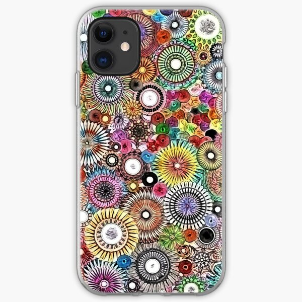 Childhood Dreams - Painted Spirograph Art iPhone Soft Case