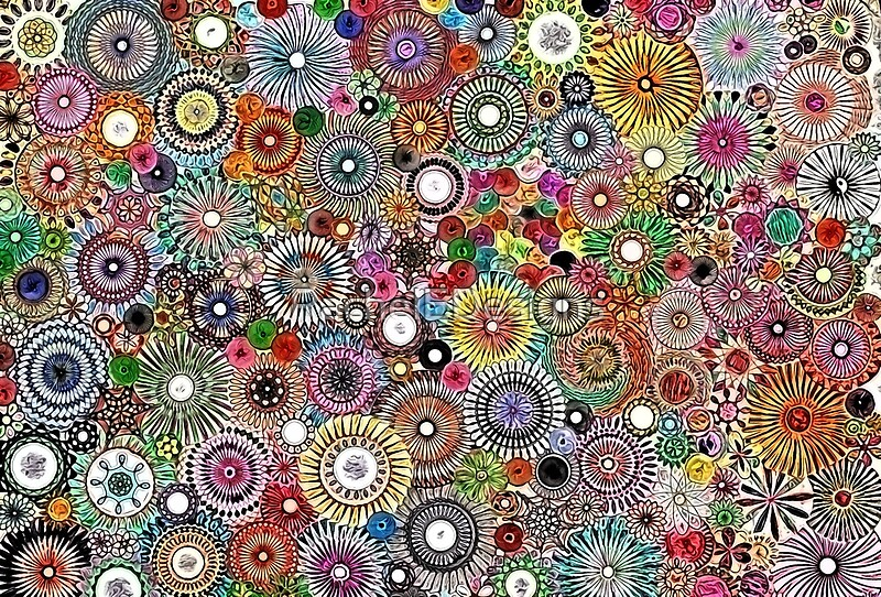 """""""Childhood Dreams - Painted Spirograph Art"""" Posters by"""