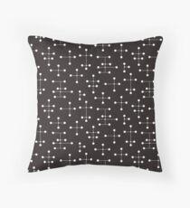 Midcentury Modern Dots 22 Throw Pillow