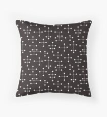 Midcentury Modern Dots 22 Throw Pillow