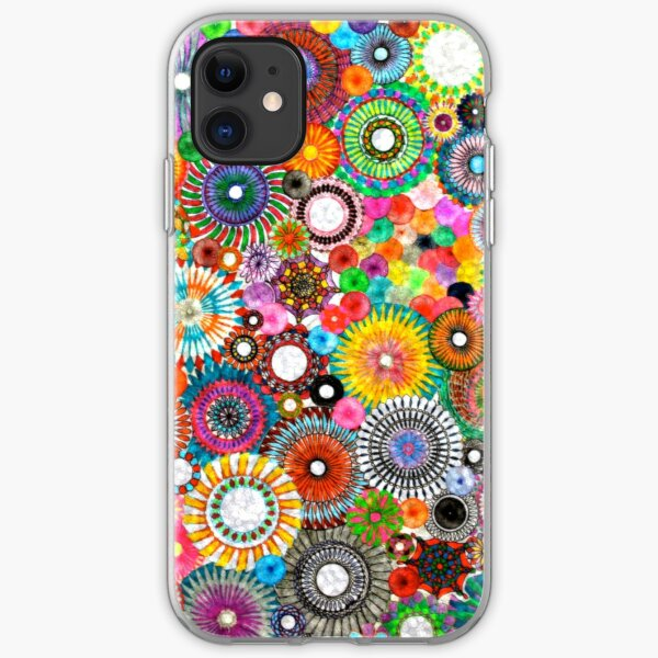 Childhood Dreams -filtered Spirograph Art iPhone Soft Case