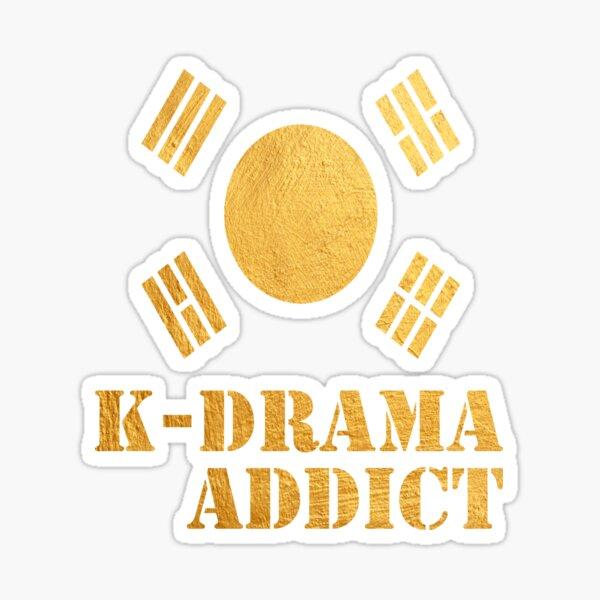 Golden K-drama Addict Sticker