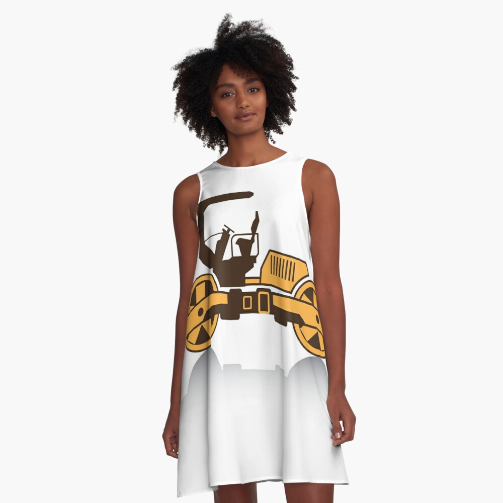 Heavy Machinery A-Line Dress Front
