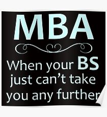MBA - Masters Degree Graduation Poster