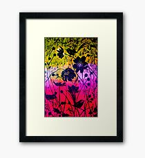 Woodcut 3 Framed Print