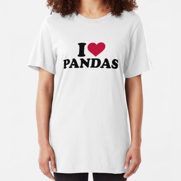 I love Pandas Slim Fit T-Shirt
