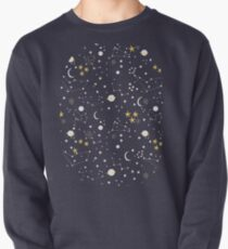 cosmos, moon and stars. Astronomy pattern Pullover