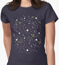 cosmos and stars Women's Fitted T-Shirt