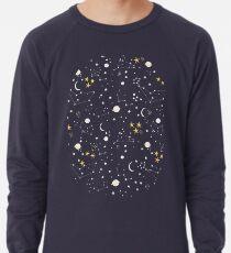 cosmos, moon and stars. Astronomy pattern Lightweight Sweatshirt