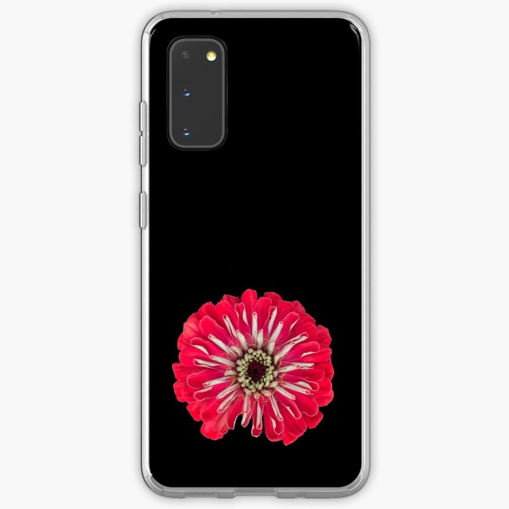 Red Zinnia Flower Case & Skin for Samsung Galaxy