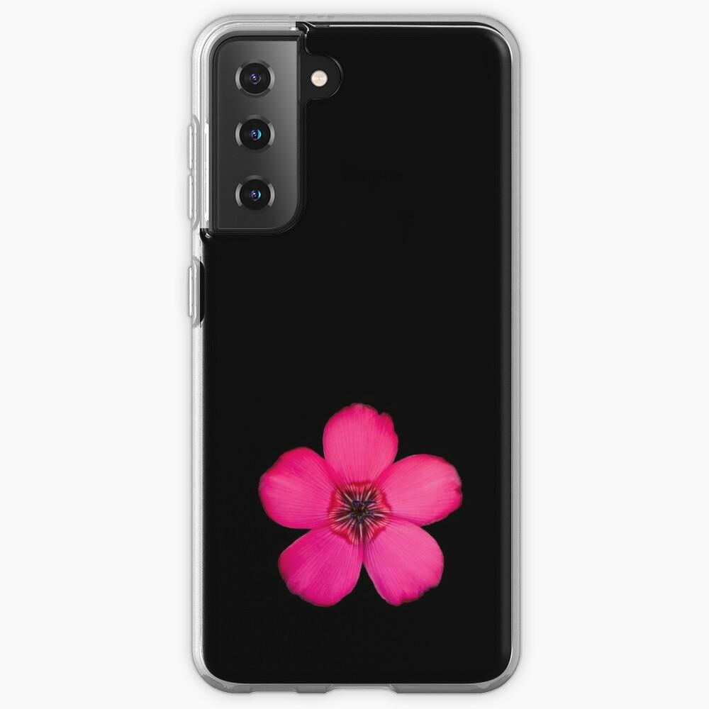 Red Flax flower Case & Skin for Samsung Galaxy