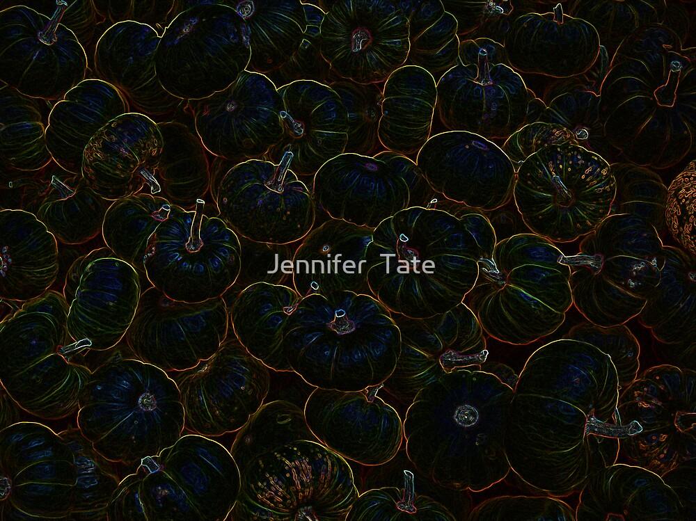 Glowing Pumpkins by Jennifer  Tate