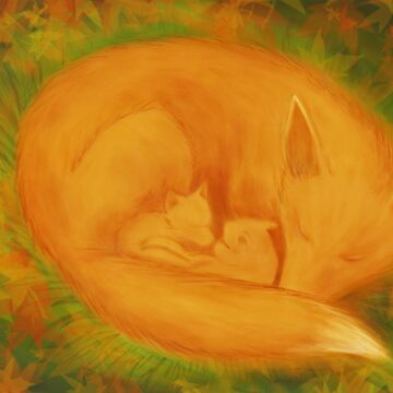 A fox family in autumn ... by D-GraphicDesign