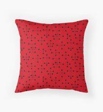 Midcentury Modern Dots 109 Throw Pillow