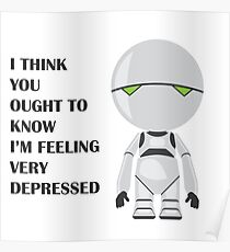 Marvin the Manically Depressed Android Poster