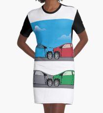 Car accident Graphic T-Shirt Dress