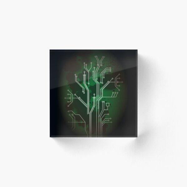 Circuit Board (Green) Acrylic Block