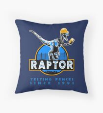 Raptor. Testing the fences since 1993 ('Blue' edition). Throw Pillow
